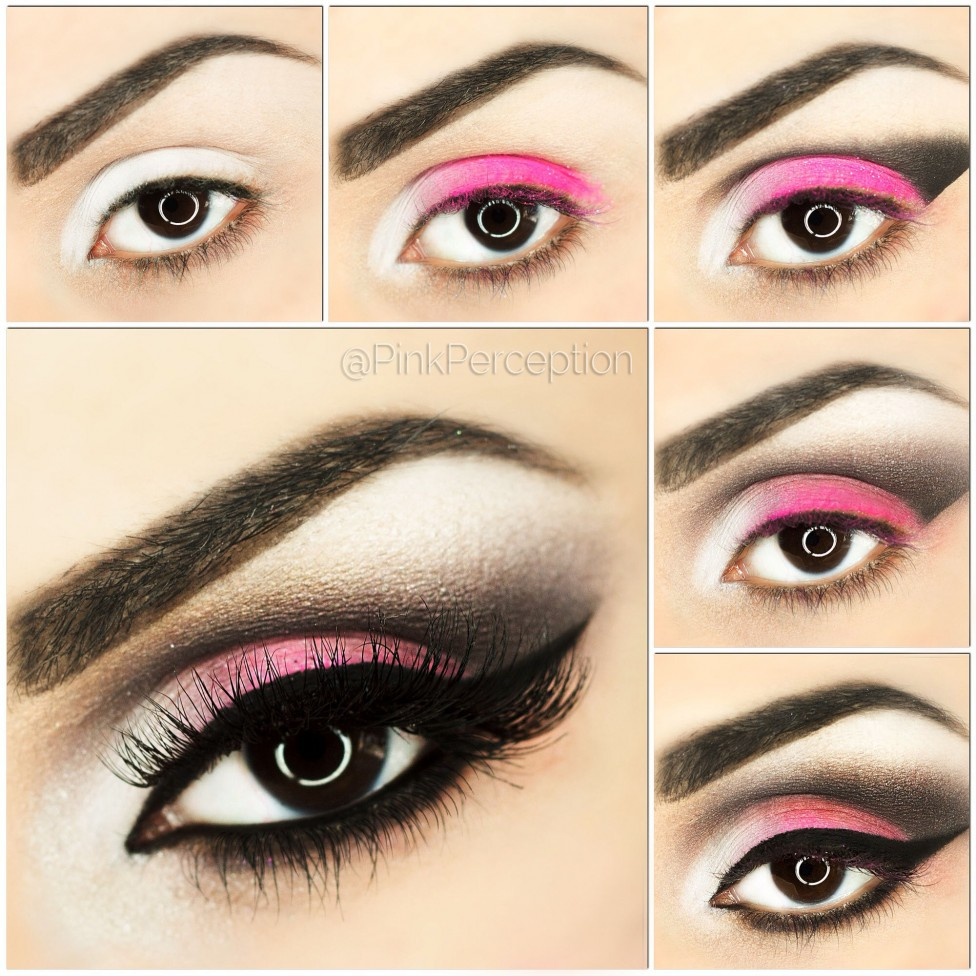 PINK SMOKEY EYE MAKEUP TUTORIAL STEP BY STEP pinkperception