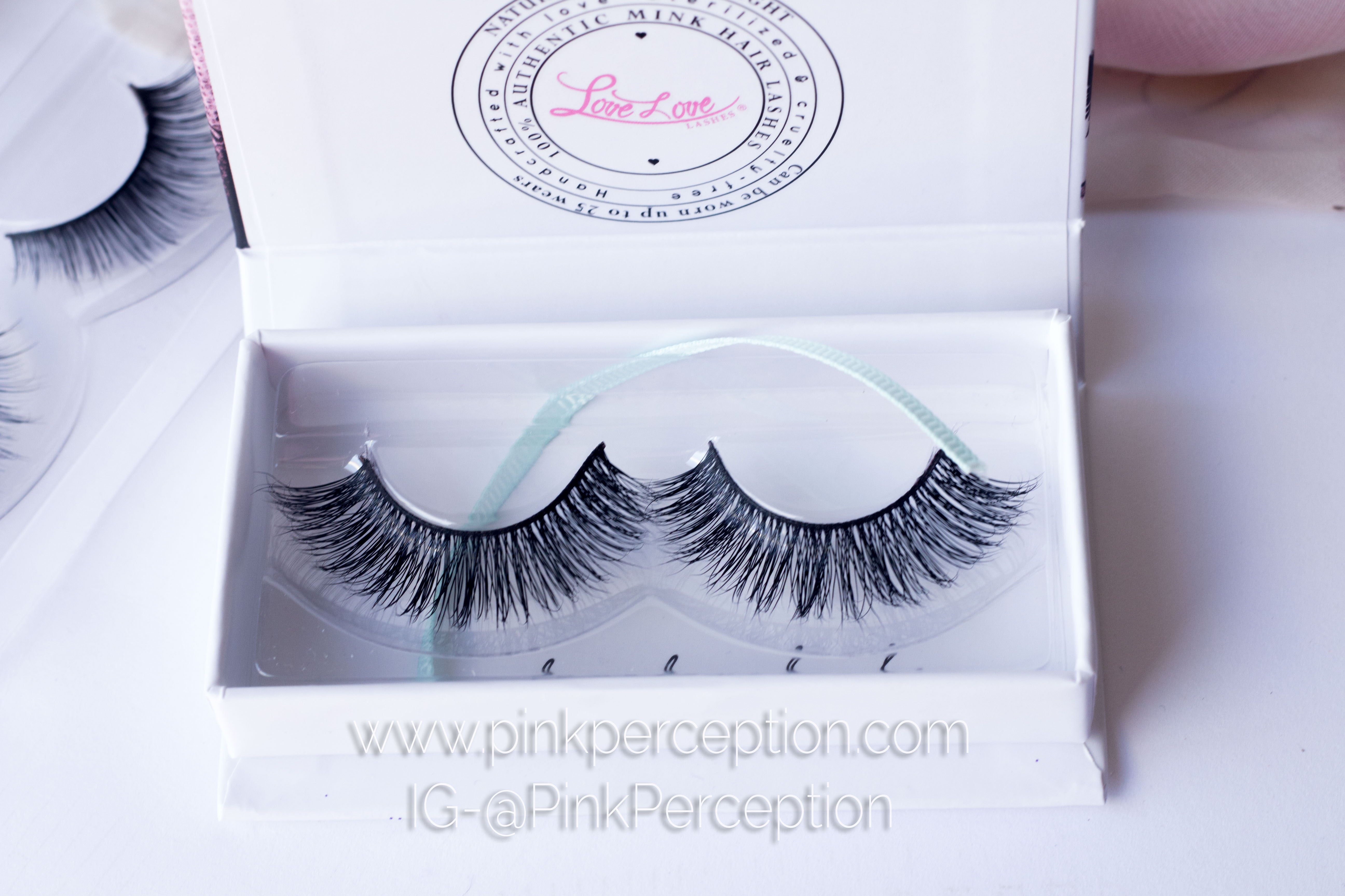 hollywook mink lashes lovelove lashes pink perception