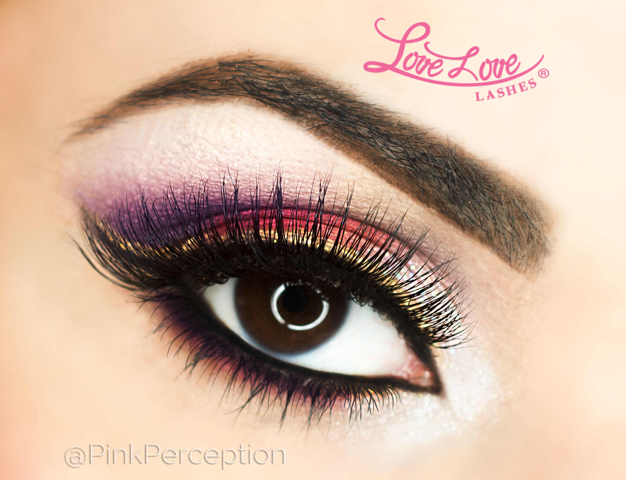 pinkperception lovelove lashes hollywood makeup