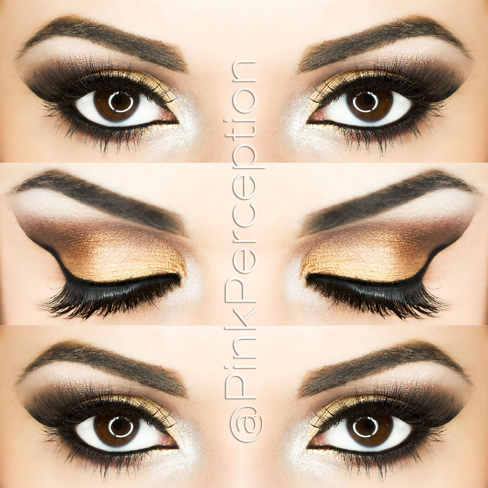pinkperception eyemakeup gold