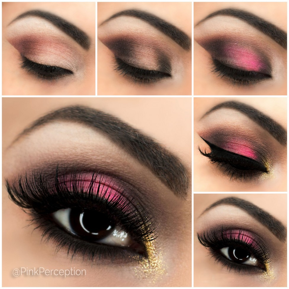 pink smokey eye tutorial